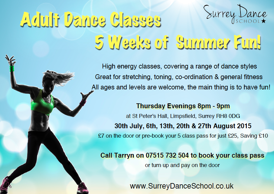 Adult Dance Classes in Limpsfield, Oxted, Surrey. Summer Dance Classes by Surrey Dance School